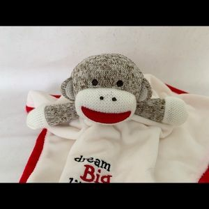 Sock Monkey security blanket